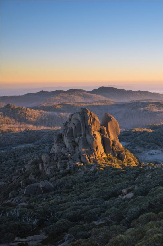 The Cathedral, Mount Buffalo at sunrise.