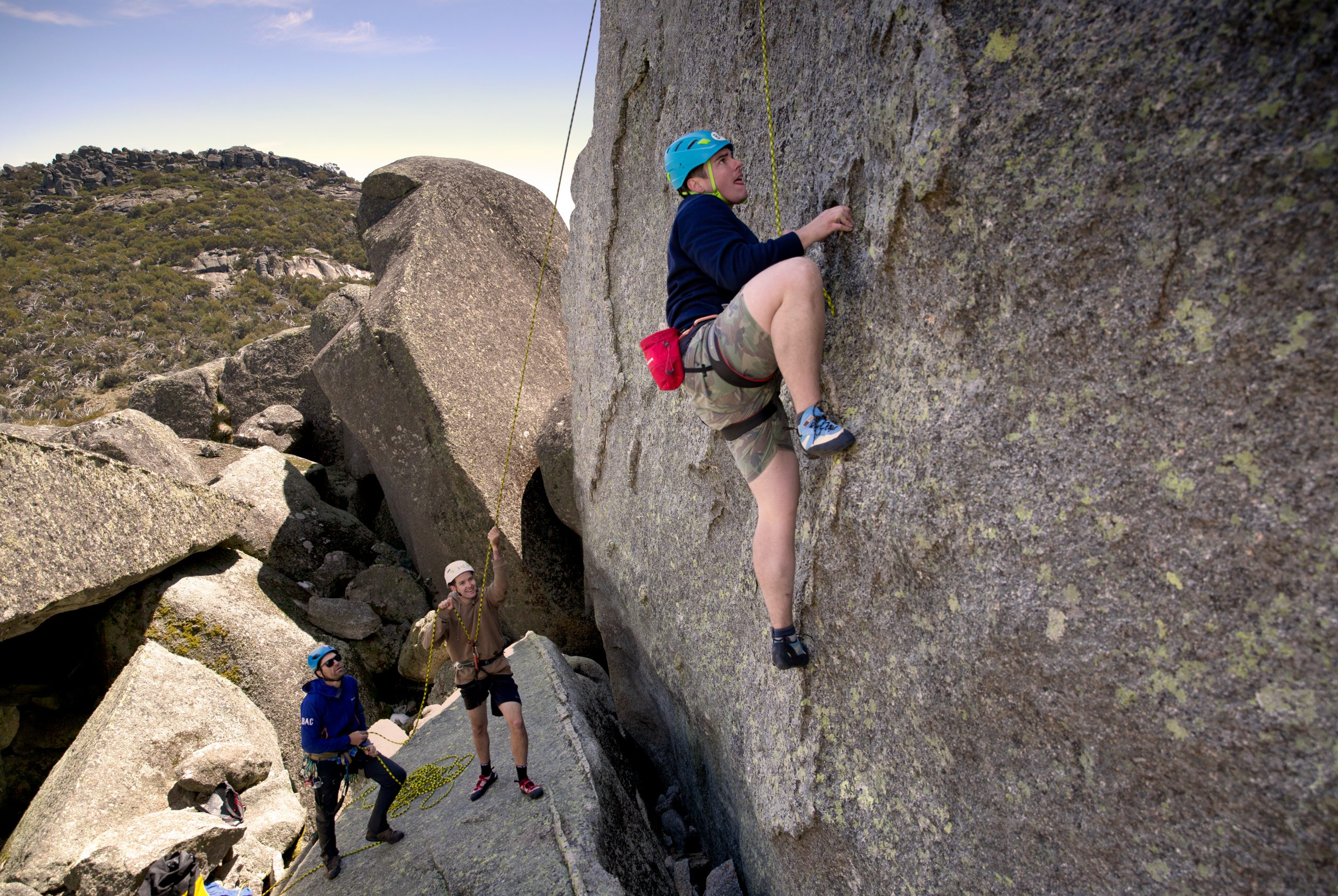 Rock Climbing-  Dream World, Mt Buffalo